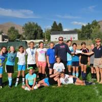 Coaches Liv Jensen & Jon Piggins &  Sandy Kelly - President,Treasurer with Team